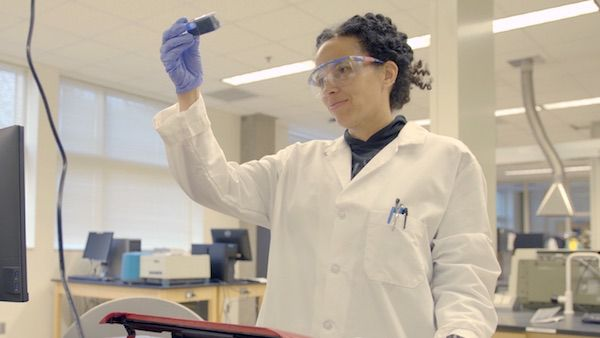 Dr. Raychelle Burks, a St. Edward's University chemist, in 'NOVA: Picture a Scientist'