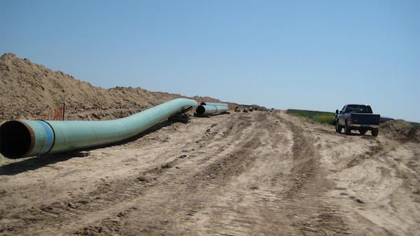 Pipes for Keystone Pipeline in 2009. Photo: Wikimedia Commons/Shannon Patrick