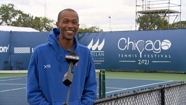 Kamau Murray, founder of the XS Tennis and Education Foundation. (WTTW News)